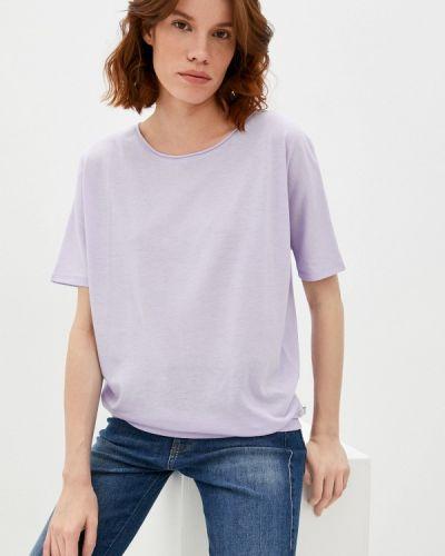 Фиолетовая футболка с короткими рукавами Q/s Designed By