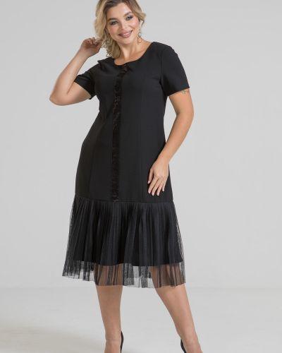 Нарядное с рукавами платье с оборками марита
