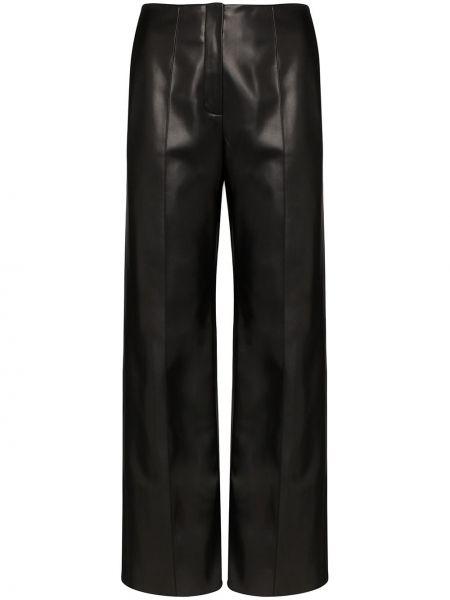 Черные брюки с воротником с завязками Aleksandre Akhalkatsishvili