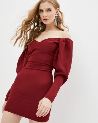 Брендовое красное платье с открытыми плечами Lipinskaya Brand