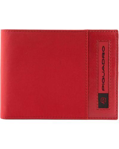 Красный кожаный кошелек для монет с декоративной отделкой Piquadro