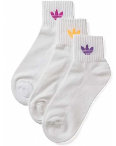 Białe skarpety bawełniane Adidas Originals