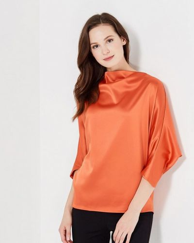 Оранжевая домашняя с рукавами блузка Sk-house