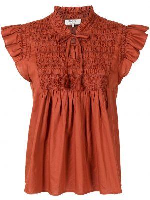 Блузка с короткими рукавами - оранжевая Sea