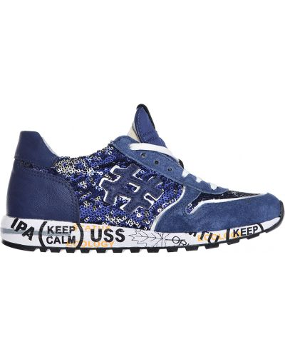 Синие кроссовки замшевые Studio Italia