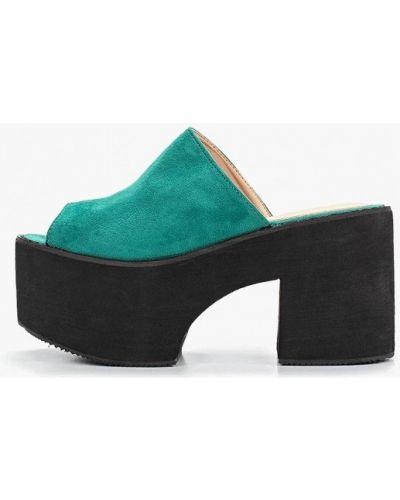 Сабо на каблуке зеленый Bellamica