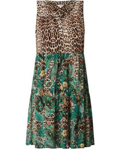 Sukienka mini rozkloszowana z falbanami z wiskozy Frogbox