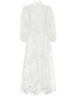 Платье с вышивкой шелковое Zimmermann