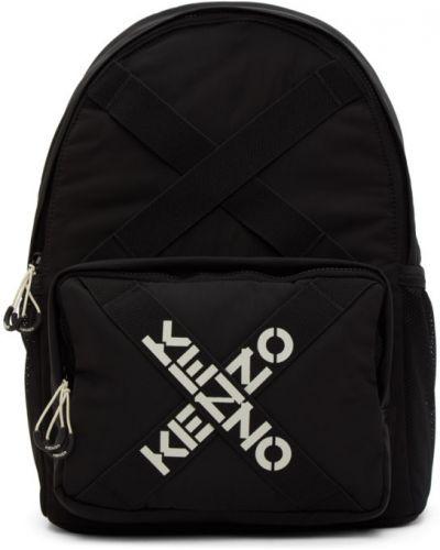 Czarny sport plecak z siateczką z nylonu Kenzo