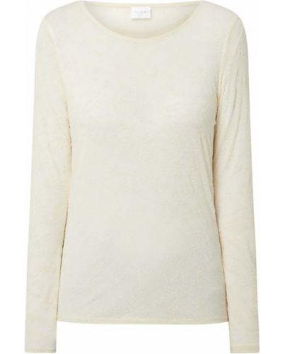 Biała bluzka z aksamitu Vila