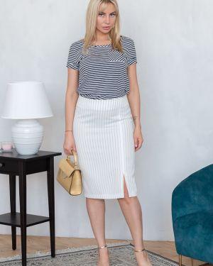 Асимметричная юбка - белая Eliseeva Olesya