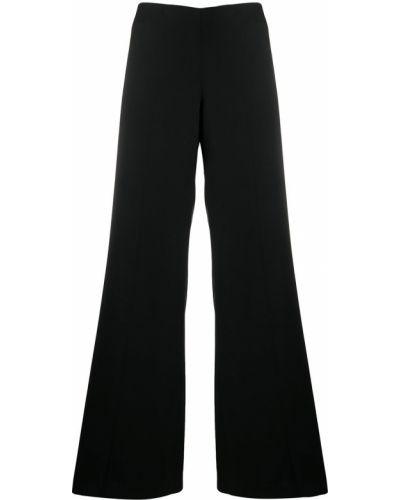 Черные брюки свободного кроя из вискозы Lardini