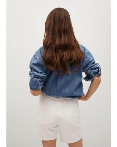 Białe szorty jeansowe Mango