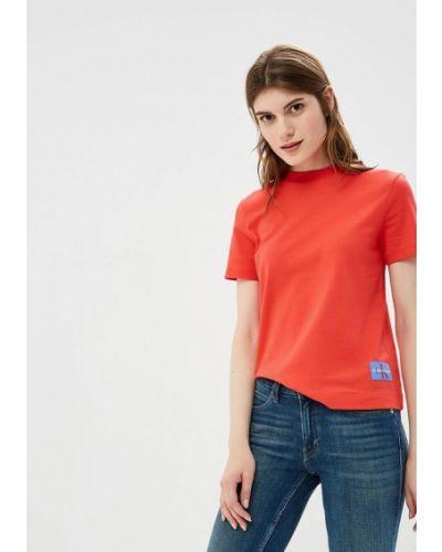 Красная футболка Calvin Klein Jeans