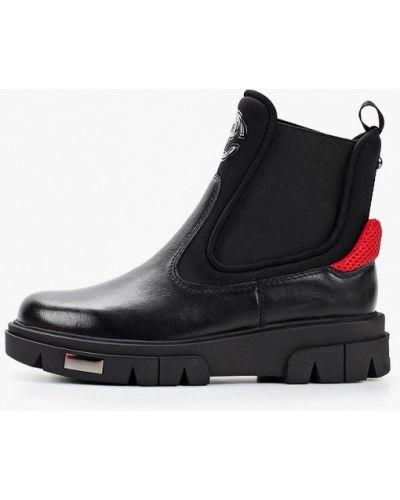 Кожаные черные ботинки челси Pierre Cardin