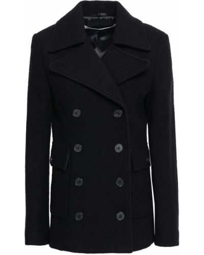 Черное шерстяное пальто Mcq Alexander Mcqueen
