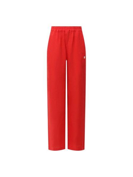 Красные льняные брюки La Fabbrica Del Lino