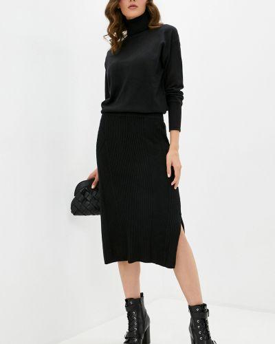 Трикотажная юбка миди - черная Baon