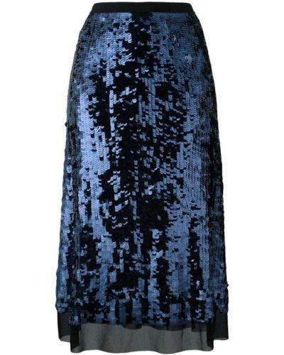 Синяя юбка с пайетками Tory Burch