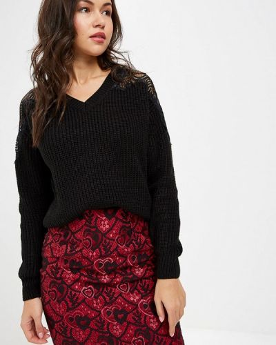 Черный пуловер 2018 Love Republic