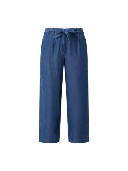 Niebieskie spodnie materiałowe Esprit Collection