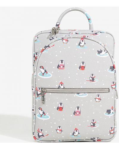 Кожаный рюкзак с подкладкой серый Parfois