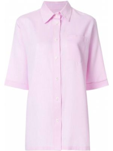 Хлопковый розовый топ с карманами Holland & Holland