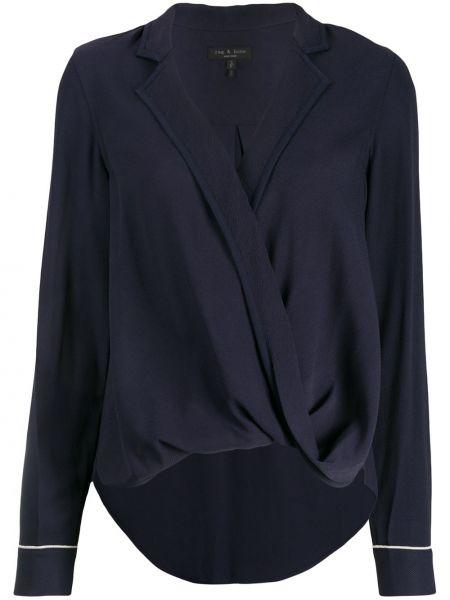 Рубашка с длинным рукавом классическая синяя Rag & Bone