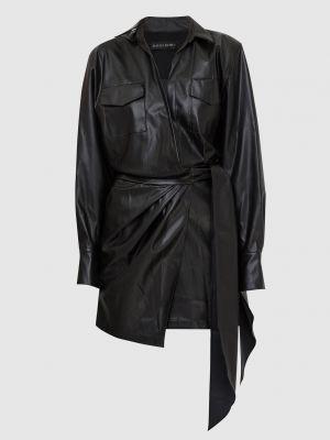 Платье мини на запах - черное David Koma