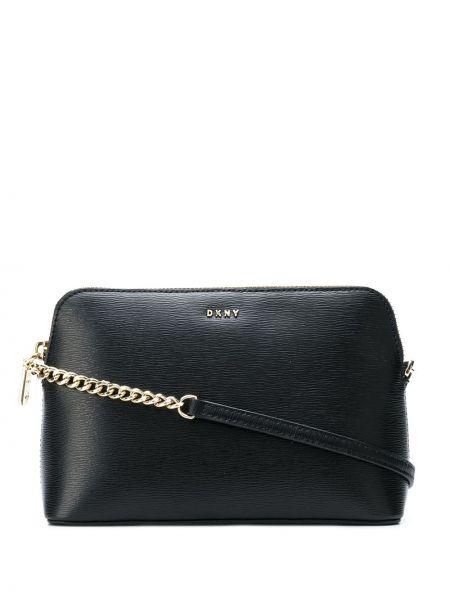 Черная сумка через плечо с перьями Dkny
