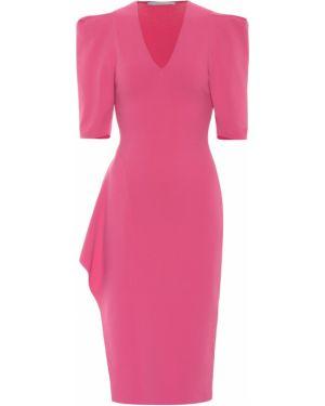 Розовое вязаное платье миди Stella Mccartney
