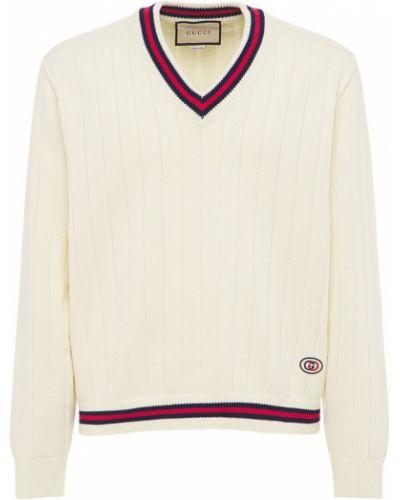 Sweter z dekoltem w serek Gucci