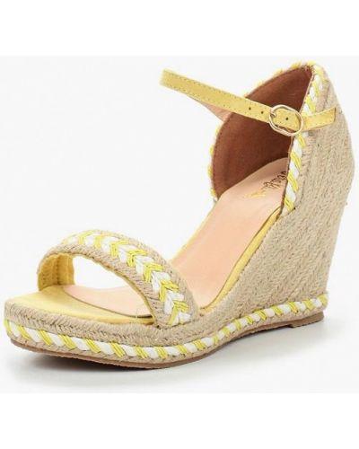 Желтые босоножки на каблуке Vera Blum