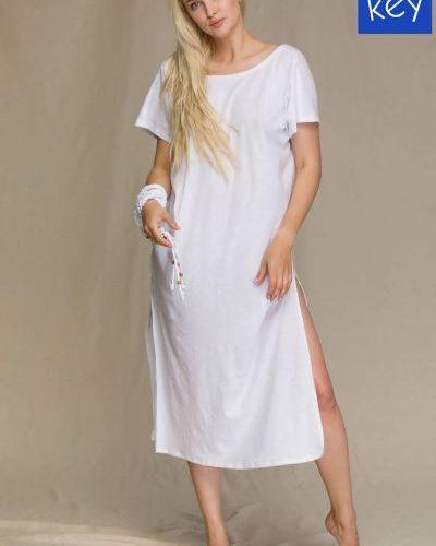 Хлопковое платье - белое Key