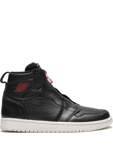 Skórzane sneakersy z logo czarne Jordan