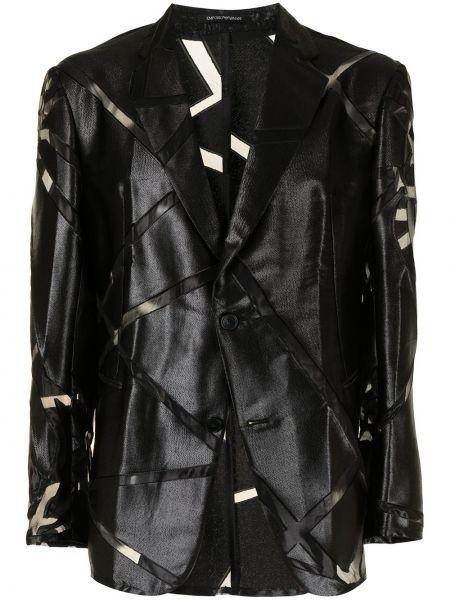 Черный пиджак из полиэстера Emporio Armani