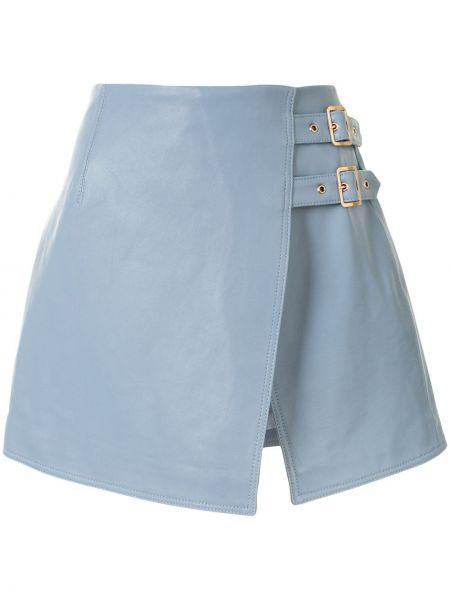 Синяя с завышенной талией юбка с разрезом с пряжкой Alice Mccall