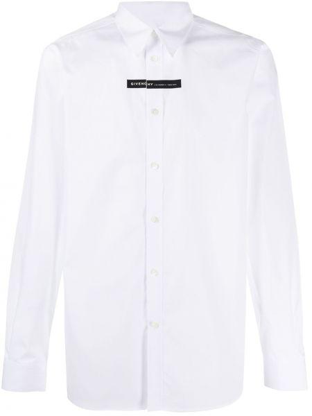 Biały bawełna koszula z mankietami zapinane na guziki Givenchy