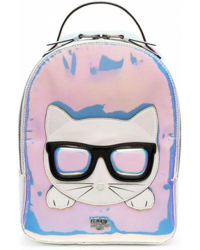 Серебряный рюкзак металлический на бретелях Karl Lagerfeld Kids