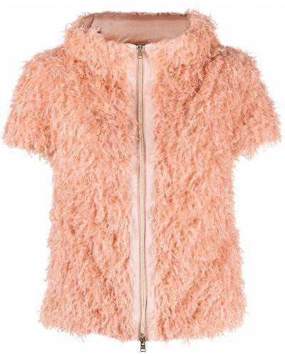 Розовый пиджак с короткими рукавами с перьями Herno