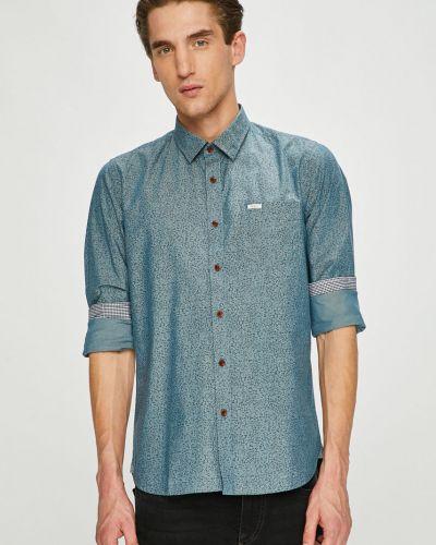 Рубашка с длинным рукавом хлопковая с узором Pepe Jeans