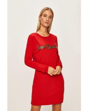 Платье мини повседневное на резинке Love Moschino