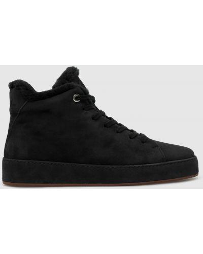 Замшевые ботинки - черные Loro Piana