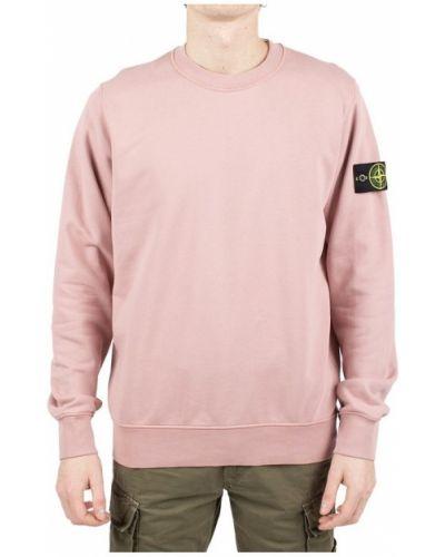 Różowy sweter Stone Island