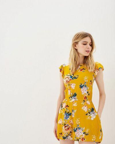 Желтый комбинезон с шортами Dorothy Perkins