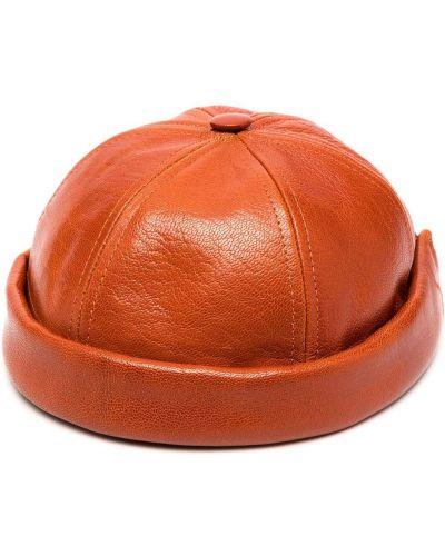 Skórzany brązowy czapka z daszkiem Junya Watanabe Man