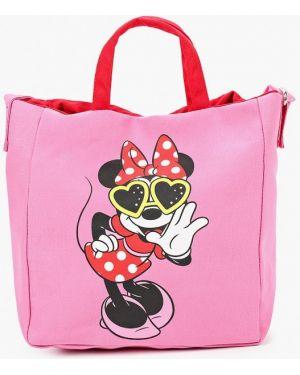 Розовая текстильная сумка United Colors Of Benetton