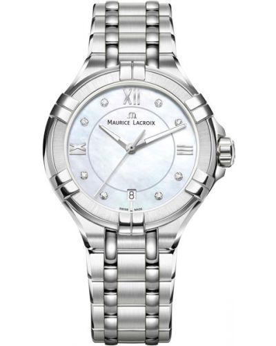 Кварцевые часы водонепроницаемые с бриллиантом Maurice Lacroix