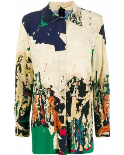 Рубашка с длинным рукавом в полоску под запонки Norma Kamali