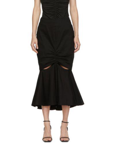 Bawełna czarny spódnica prążkowany z popeliny Edit